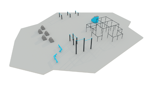 Ready-to-use parkour ground #1