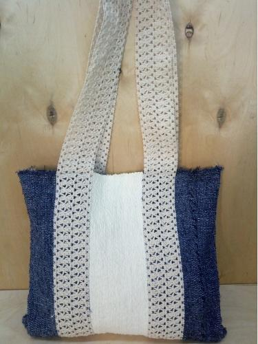 Textile woman tote bag