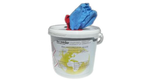 Lingette nettoyante désinfectante non-tissé