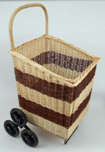 Chariot à bois blanc & brut 6 roues