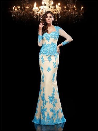 Long Chiffon Evening Dress