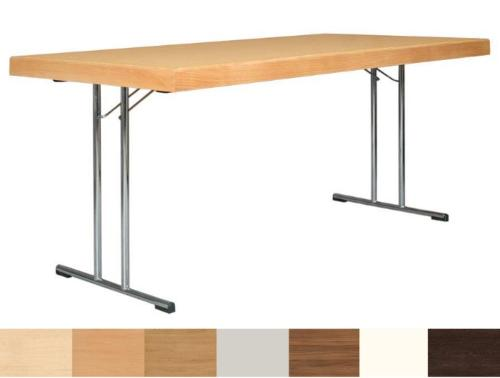 Folding table Tom with a solid beech edge