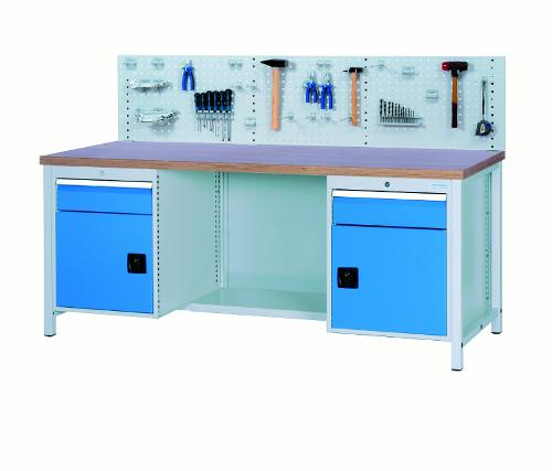 Workbench 2000 with 2 drawers and 2 hinged doors