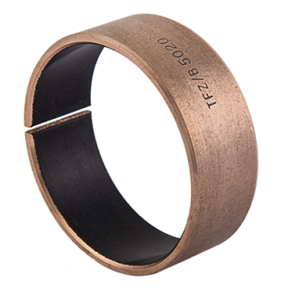 Wrapped composite dry sliding bearing bronze / PTFE