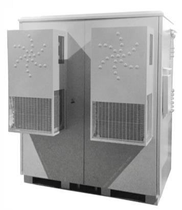 Wheatherproof climatic outdoor cabinet with air-conditioning