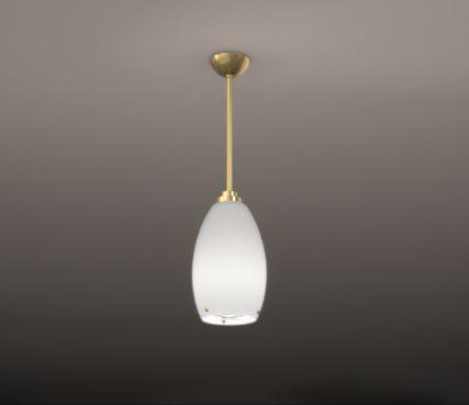 Egg shaped pendant light