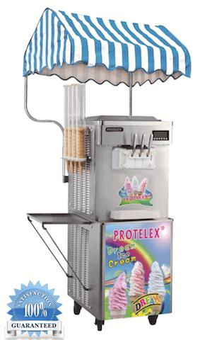 Παγωτομηχανή soft ice - χωνάκι 2+1