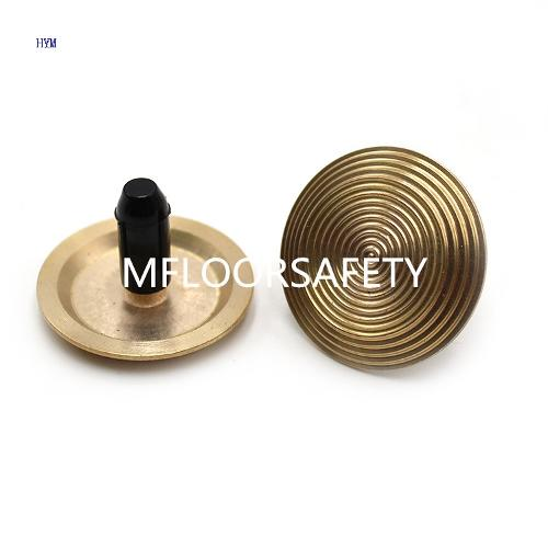 Brass Spiral Surface Tactile Stud