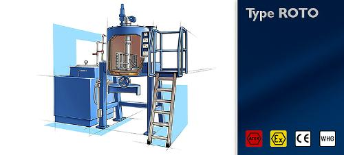 Distillation unit type ROTO