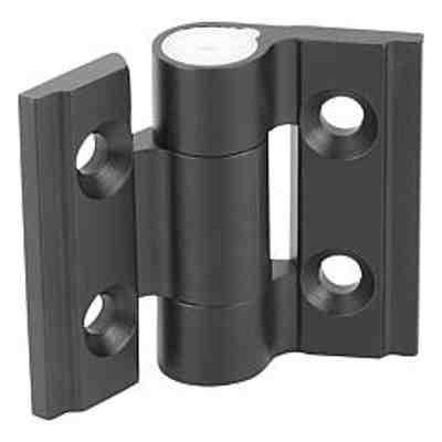 Charnières en aluminium avec friction réglable