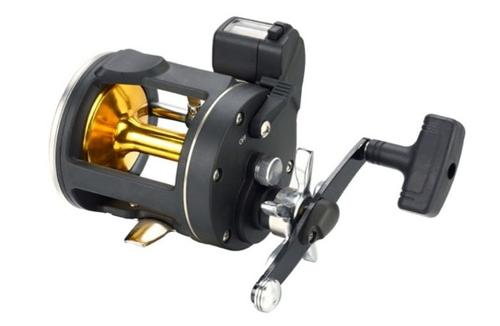 Trolling fishing reel with line counter
