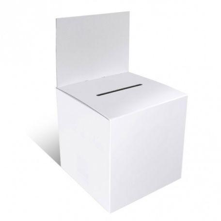 Urne Carton Blanche Jeu Concours