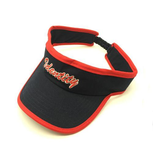 Navy/red cotton twill visor