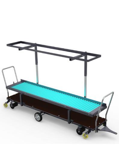 Dwu poziomowy wózek zbiorowy