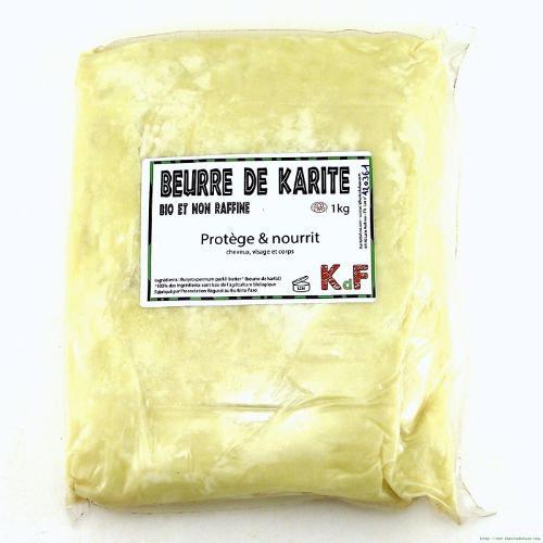 Beurre de karité bio et non raffiné