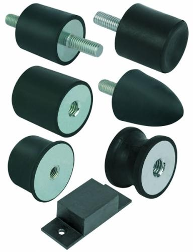 Rubber-metal buffers steel or stainless steel