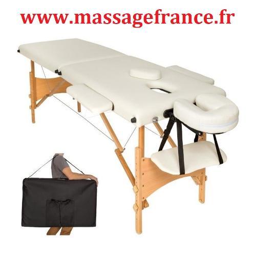 Table de massage ultra legere transportable bois
