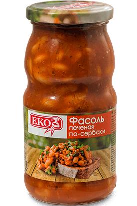 Фасоль печеная по-сербски