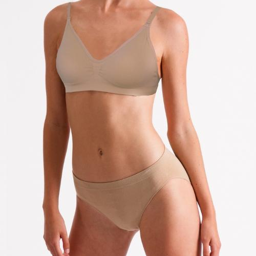 Seamless Silky Dance Clear Back Bra and Brief