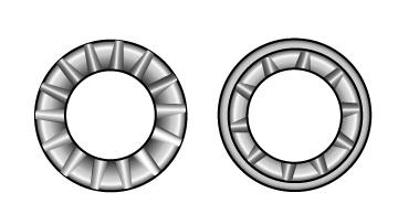Serrated lock washers, type A
