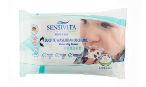 Sensivita Feuchte Waschhandschuhe