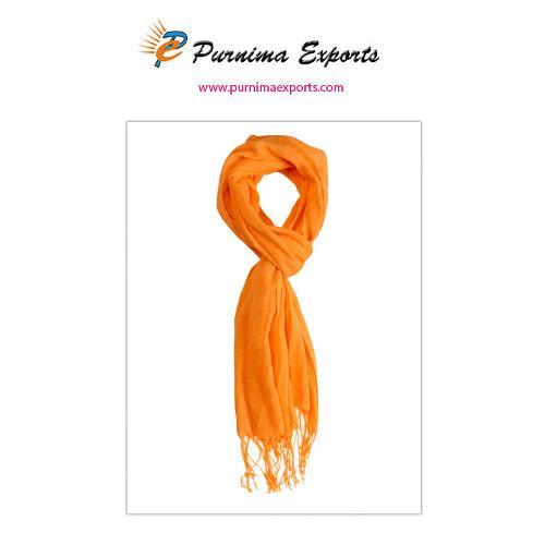 Foulard en lin orange