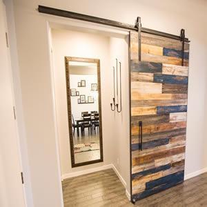 Barn wood door sliding