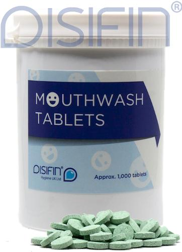Disifin Antiseptic Mouthwash Mint Effervescent Tablets