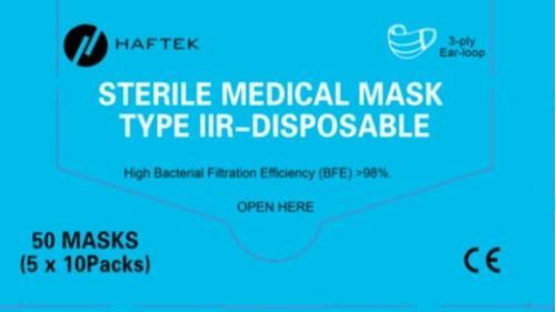máscara de tres capas no médica