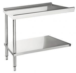 Table d'entrée ou de sortie pour lave-vaisselle à capot