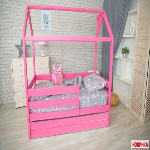 Кроватка - домик из массива с ящиком