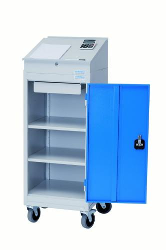 Cabinet with hinged doors type 105 with roller support...