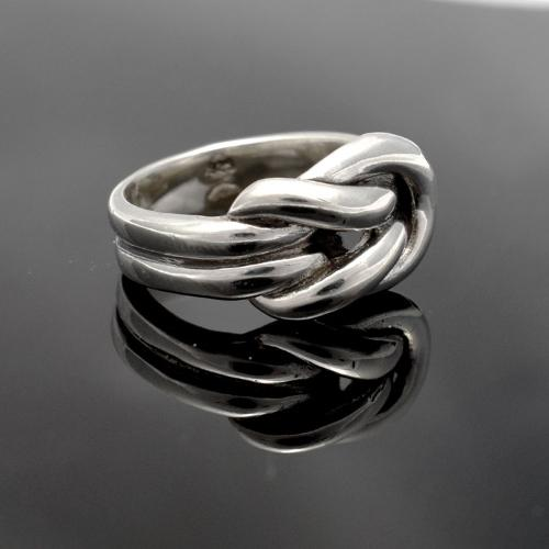Sterling Silver Knot Ring, Love Ring, Love Knot Ring, Bridal
