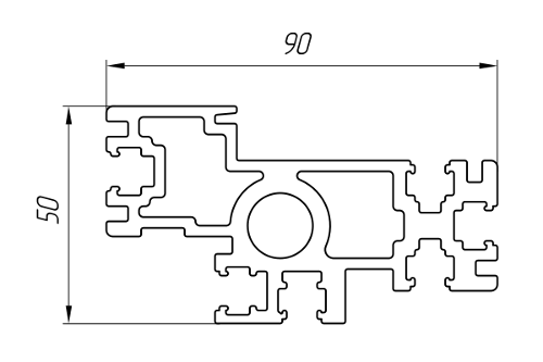 Aluminum Profile According To Individual Drawings Of Customers Ат-2433
