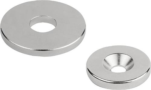 Magnets Raw With Hole Ndfeb, Disc Form