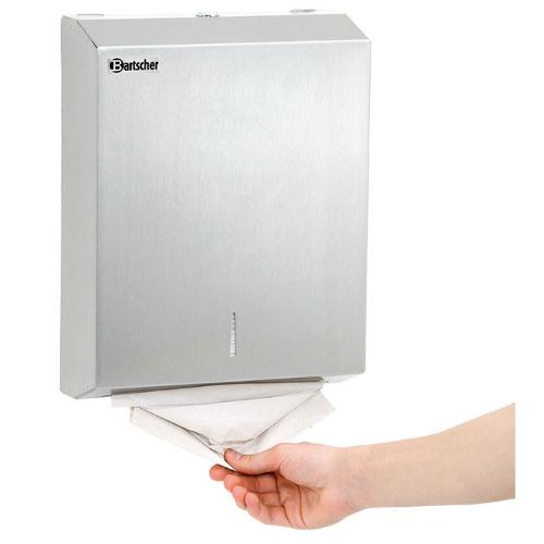 Paper towel dispenser, SS brushed
