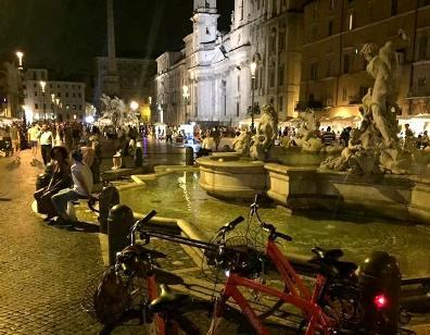 Roma di Notte: Bici & Pizza