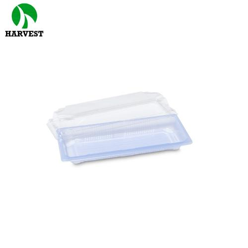 Oem Accepted Ps Plastic Printing Sushi Tray Transparent Lid Sushi Container