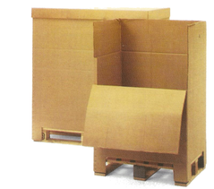 Wellpappen Container