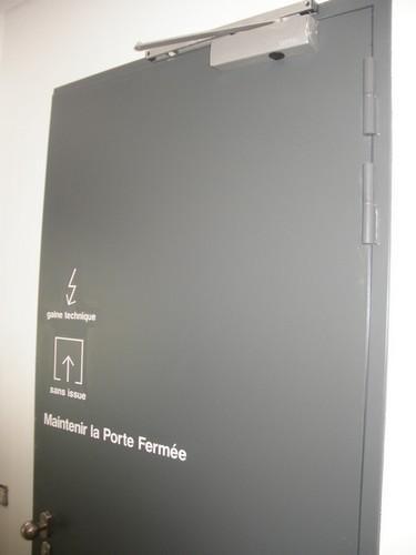 PORTE METALLIQUE coupe feu PLEINE SIMPLE RF 90'