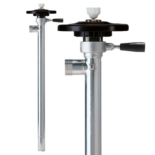 Pump tube for complete drum drainage SS with impeller