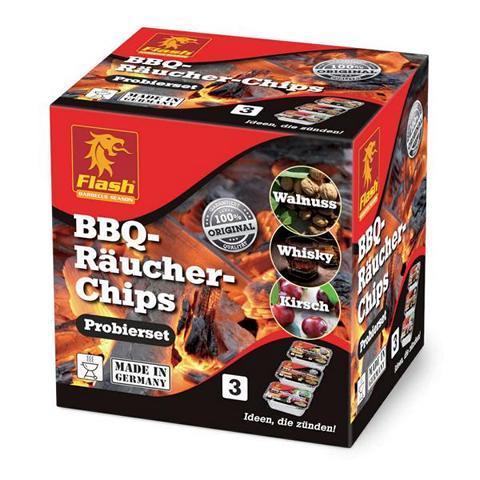 FLASH Räucher-Chips 3er-Probierpack