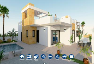 Villas independientes con piscina privada en TORREVIEJA