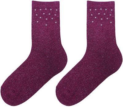 Lurex Socks with Star studs
