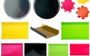Carton laminée, Assiettes, disques et plateaux carton