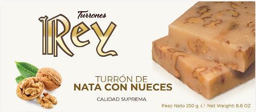 TURRÓN DE NATA CON NUECES