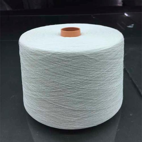 Long hemp half bleached yarn