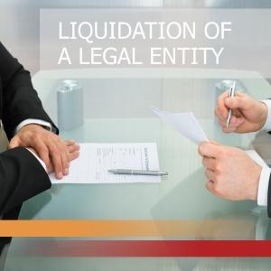 Official liquidation of a legal entity