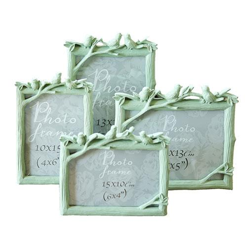 Resin bird branch shape photo picture frames