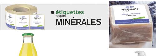 Étiquettes Minérales
